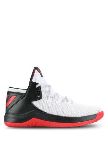 adidas black and white adidas d rose menace 2 AD372SH0RAHJMY_1