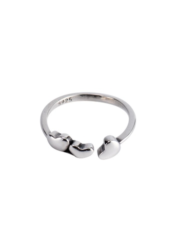 A-Excellence silver Premium S925 Sliver Heart Ring E9FB9ACCEE03ABGS_1