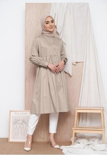 Zalima Zalima Jasmin Long Shirtdress 2-in-1 style in Khaky 726F5AA416000BGS_1