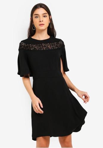 ZALORA 黑色 蕾絲洋裝 11853AAEF8ACDCGS_1