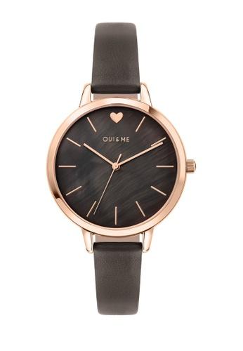 Oui & Me grey Amourette Quartz Watch Grey Leather Strap ME010099 ACBB1AC1AB6203GS_1