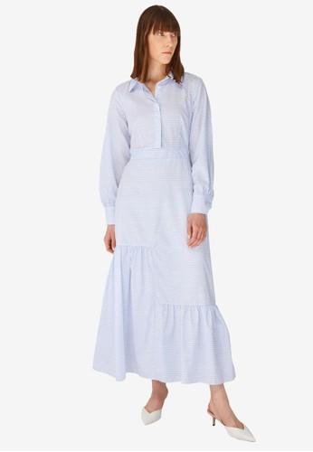 Trendyol blue Blue Shirt Dress 532F6AA57DBB42GS_1