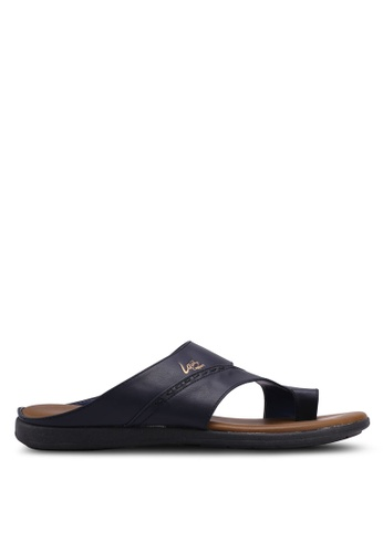 Louis Cuppers navy Faux Leather Sandals BF649SHB7FD742GS_1