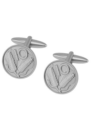 CUFF IT silver 10 Cents Coin Cufflinks CU047AC2UQPRHK_1