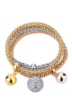Round Pendant Charm Bracelet by ZUMQA