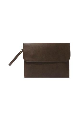 "Knocks brown 13"" Brighton Laptop Case (Dark Brown) KN307AC54HSBSG_1"