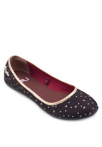 心形印花平底鞋,esprit 雨傘 女鞋, 鞋