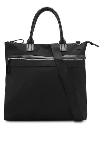 ZALORA black Zip Detail Tote Bag ECB53ZZAF58864GS 1 b814785e15
