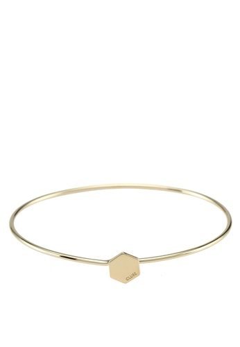 CLUSE 金色 Essentielle Gold ​Hexagon Bangle Bracelet CC76EACC7F70A7GS_1