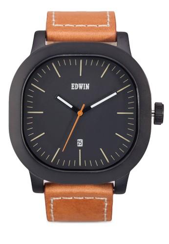 ANDERSON 方框esprit 衣服真皮手錶, 錶類, 飾品配件