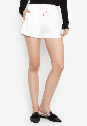 Susto The Label white Marlon Drawstring Shorts 77F71AAFCCE36AGS_1