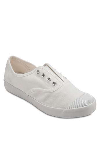 無鞋帶彈性帆布鞋esprit 鞋, 女鞋, 休閒鞋