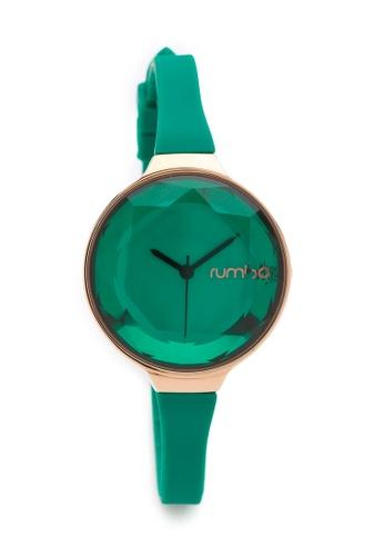 RumbaTime green and gold Rumbatime Orchard Gem Mini Watch Emerald RU023AC59RTOHK_1