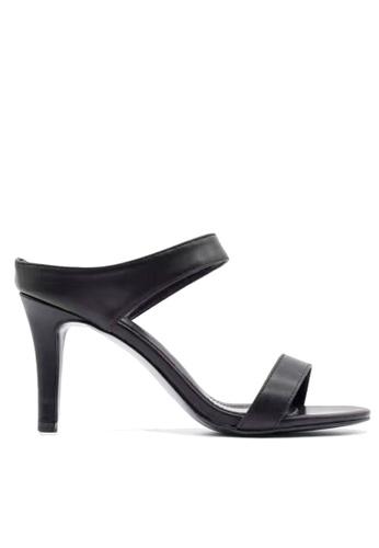 Twenty Eight Shoes 黑色 搭帶高跟涼鞋 VS1891 TW446SH91DKYHK_1