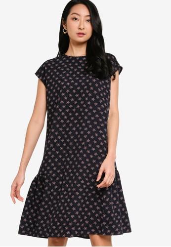 ZALORA BASICS black and multi Gathered Back Mini Dress A17E5AA3DA96E3GS_1