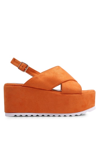 Nose orange Suede Platform Wedges FB3A5SHDB088B6GS_1