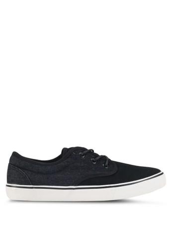 Penshoppe black Lace-Up Sneakers 13320SHDB45D61GS_1