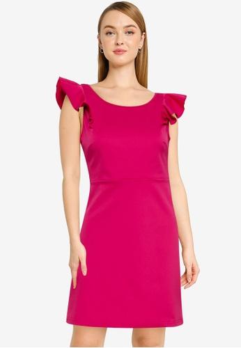 URBAN REVIVO red Casual Dress 38368AA0696F67GS_1