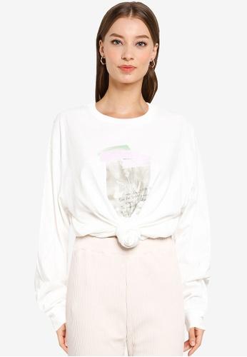 LOWRYS FARM white Classic Printed Sweatshirt 7D614AA9DAB74CGS_1