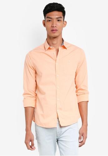 Burton Menswear London pink Pink Roll Sleeve Poplin Shirt 6AF3FAA97BF2ABGS_1