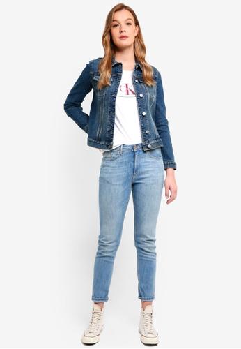 Calvin Klein blue Cleanline Trucker Denim Jacket - Calvin Klein Jeans 7BF0AAAFA74E55GS_1