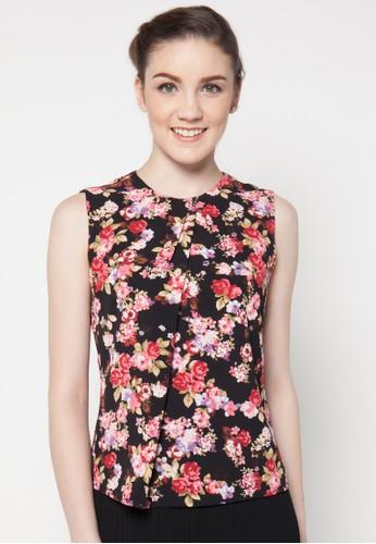 sophistix black Verda Floral Print Blouse SO829AA10QAJID_1