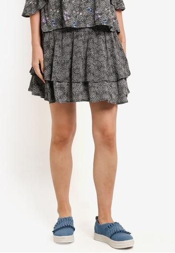 Factorie black Ruffle Skirt FA880AA0RPKTMY_1