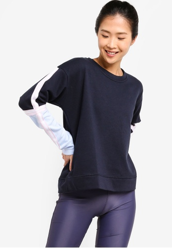 Cotton On Body blue Long Sleeve Terry Crew Top CDF13AAF65D379GS_1