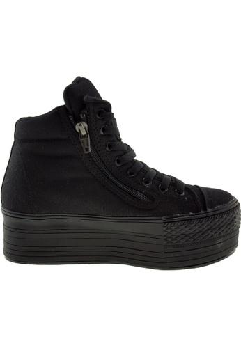 Maxstar black Maxstar Women's C50 Padded Lining Hidden Heel Platform Canvas Sneakers US Women Size MA164SH15PPWSG_1