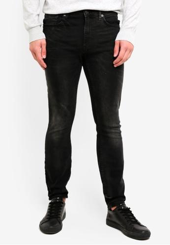Burton Menswear London 黑色 緊身牛仔褲 2CC84AAD36852EGS_1