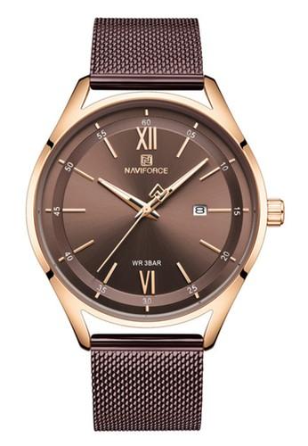 Naviforce brown Naviforce - Jam Tangan Pria - Rosegold - Brown Stainless Steel Bracelet - NF3013-D CBA73ACCD9E2CAGS_1