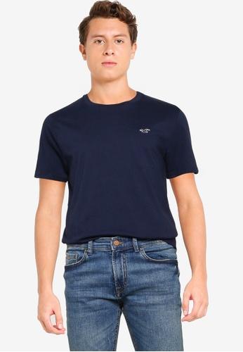 Hollister navy Crew Core T-Shirt E380BAAEC8F598GS_1