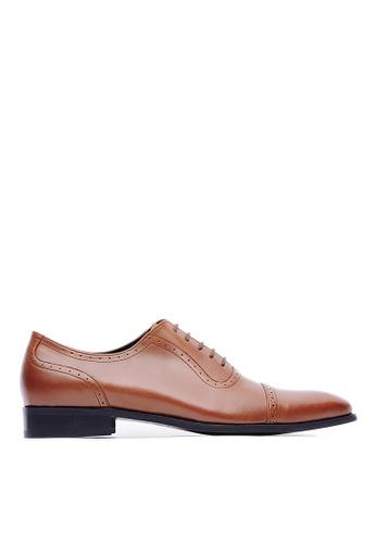 Life8 brown Formal Gentleman Pointy-toe Leather Shoes -09704-Brown LI286SH0RUU0MY_1