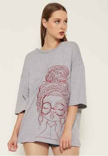 Orlin grey ORLIN Suteki Embroidery Light Grey Tees 086A9AAC3480D8GS_1
