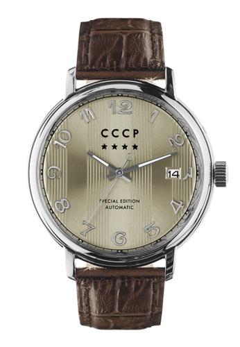 CCCP brown CCCP Men's Brown Genuine Leather Watch - CP-7021-0A 2C24CAC32E9617GS_1