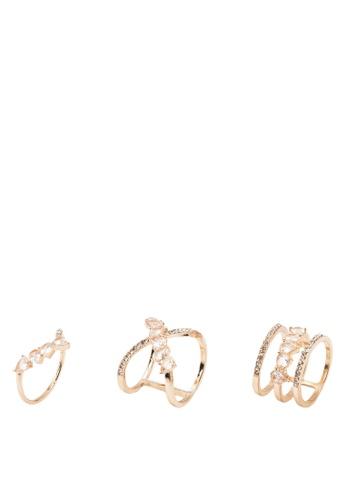 ALDO gold Tetonia Ring Set 17385AC8B5A4BEGS_1
