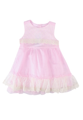 LC Waikiki pink Baby Girl's Lace Dress 27916KAD1D03F2GS_1
