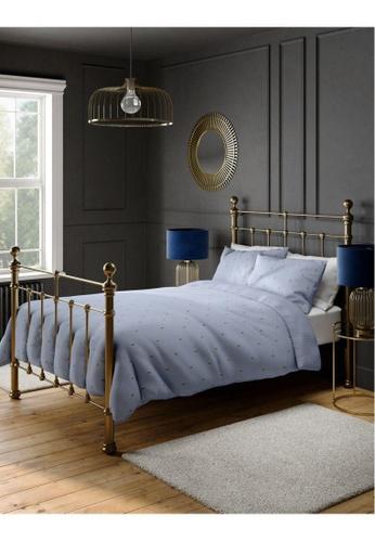 MARKS & SPENCER blue M&S Cotton Rich Bee Bedding Set (Single) DE33FHL9D60E6BGS_1