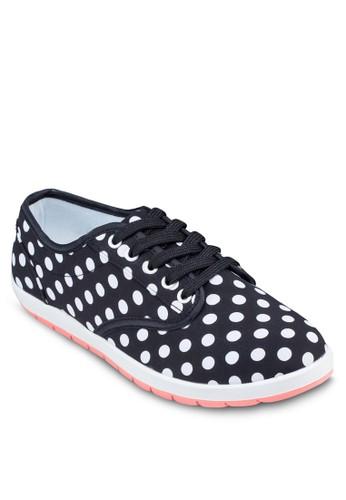 點點印花休閒鞋, 女鞋,zalora 台灣 鞋