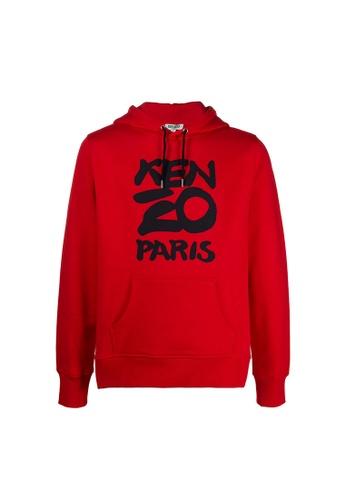 Kenzo red Kenzo Paris Hoodie in Medium Red EE6C5AADEAA7DFGS_1