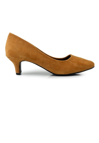 SHINE brown SHINE Point Toe Suede Pumps 6F111SHB125AA4GS_1