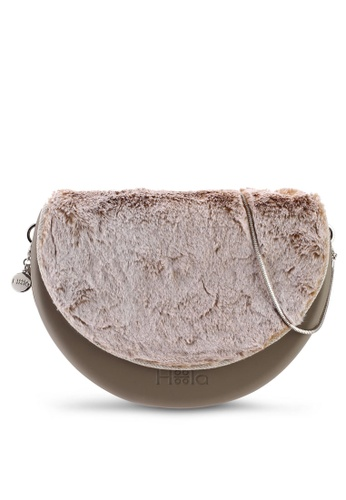Hoola Hoola grey Chiara Saddle - Sage  Fox Fur & Snake Chain 371F3ACFBDAA23GS_1