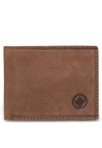 Lumberjacks 暗紋對折皮夾, 飾品配件esprit台灣outlet, 皮革