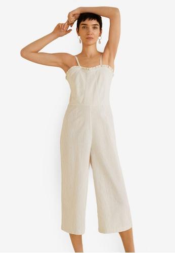 00622fef16f3 Buy Mango Cropped Striped Jumpsuit Online on ZALORA Singapore
