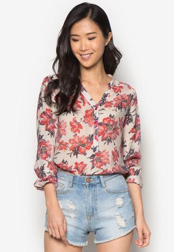 碎花長袖上衣, 服飾,zalora時尚購物網的koumi koumi 上衣