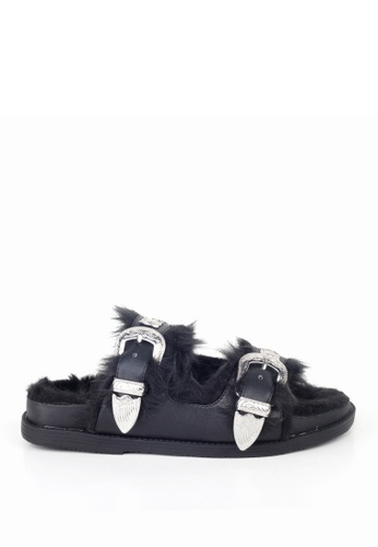 London Rag black London Rag Women's Summer Black  Slipper SH1330 LO704SH24OXRHK_1