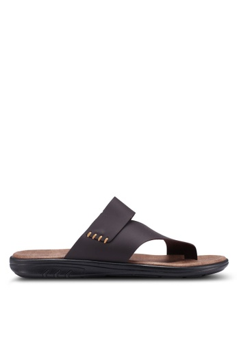 Bata brown Slide-On Flip Flops 7DB33SH295F87AGS_1