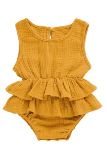 RAISING LITTLE yellow Kirsten Romper - Yellow C7FCCKA2D1198EGS_1