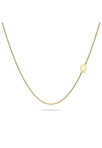 Bullion Gold gold BULLION GOLD Bold Alphabet Letter Initial Charm Necklace in Gold Tone - Q B6970AC09A42BFGS_1
