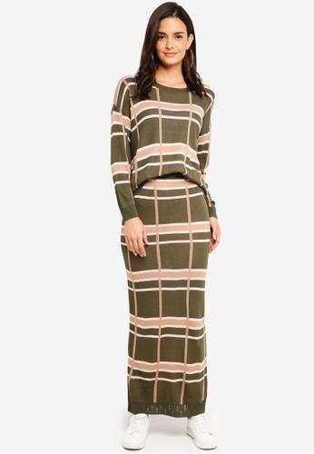 Lubna green Oversize Knitwear Set 7880CAAE3CD2C2GS_1